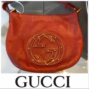 Gucci Pink Leather 'Blondie' Hobo Bag